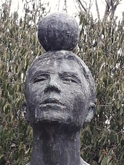 Boy with Ball on Top of the Head, Detail