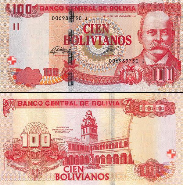 100 Bolivianos Bolívia 2015, P246