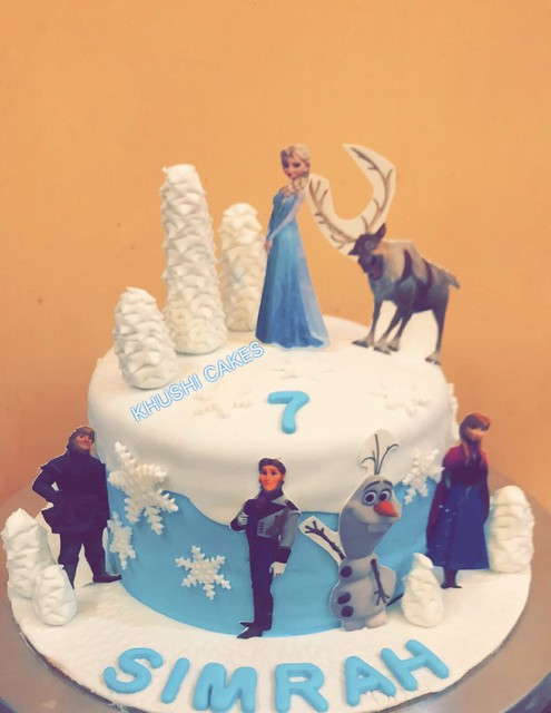 Elsa and Anna Cake by Khushboo Choudhary of Khushi Cakes