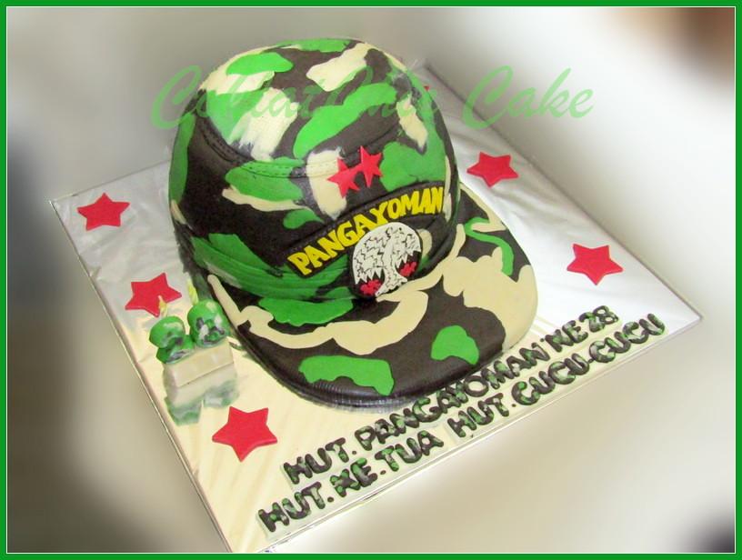 Cake Topi Tentara HUT PANGAYOMAN 30 cm