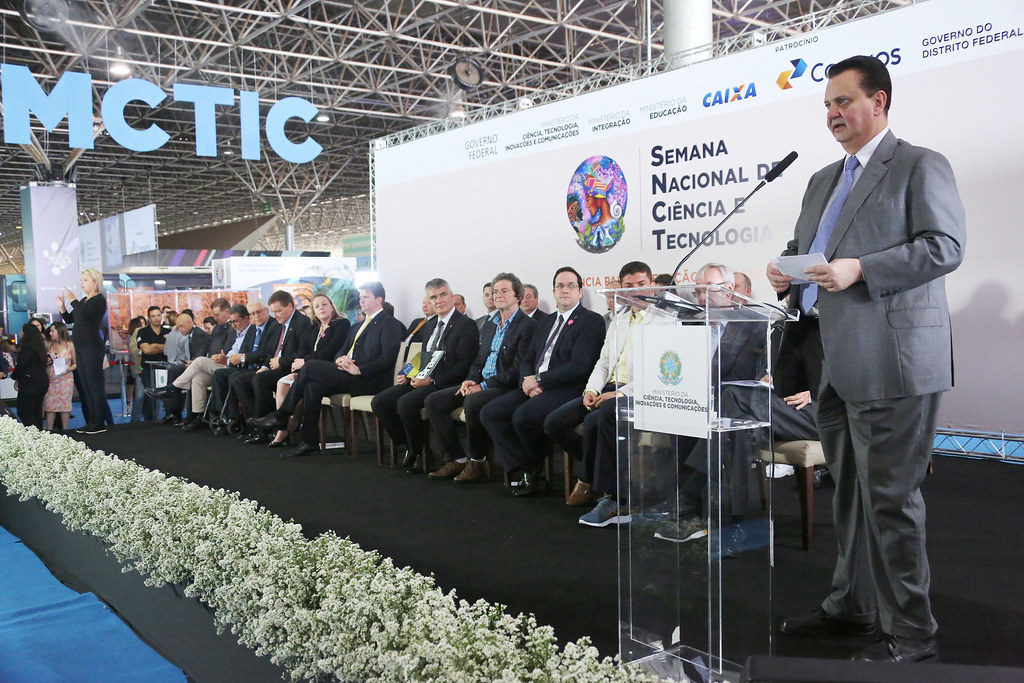 16/10/2018. Brasília-DF. Ministro Gilberto Kassab participa da cerimônia de abertura da 15ª Semana Nacional de Ciência e Tecnologia. Foto: Ricardo Fonseca/MCTIC.