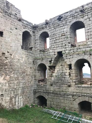 le château du Ht Andlau et sa vue