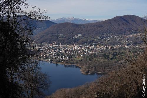 Le Lago di Lugano et Caslano vus depuis le Pian Oltrigo, près d'Agra (Ticino) (27/12/2018 -05)