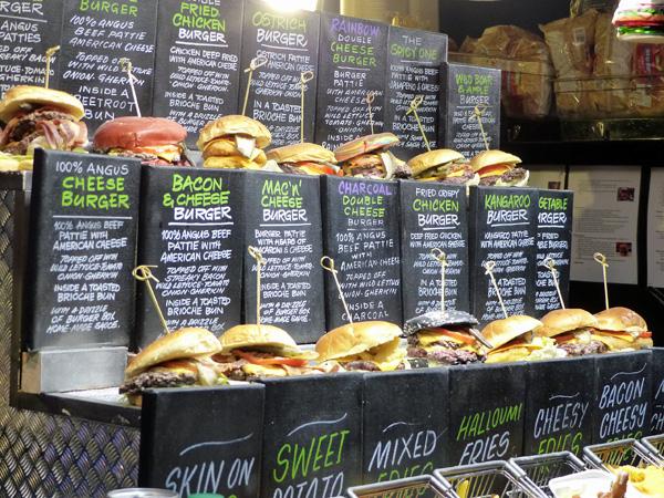 burgers au marché de Noël d ela Tamise
