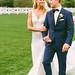 Sheath Wedding Dress : Elyse Taylor and her groom Seth Campbell at their Bridgehampton, NY, wedding | M...