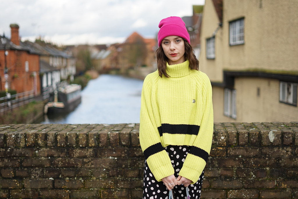 Lazy Oaf Lime Knit & Collusion spotty trousers 5