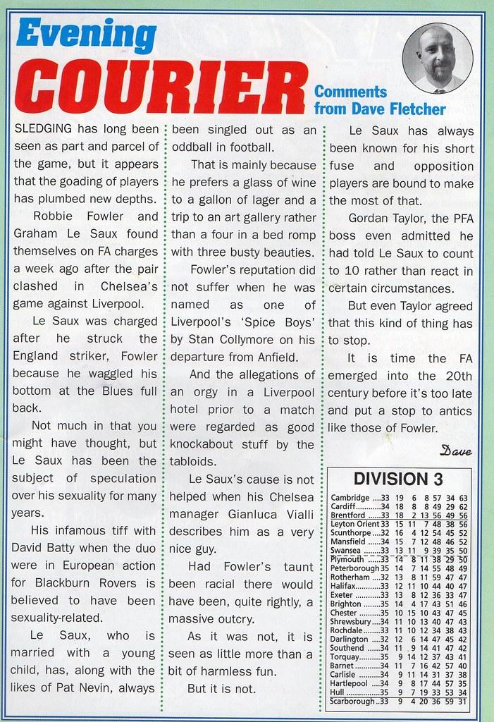 (Programme) 13-03-1999 Halifax Town 1-0 Carlisle United 4