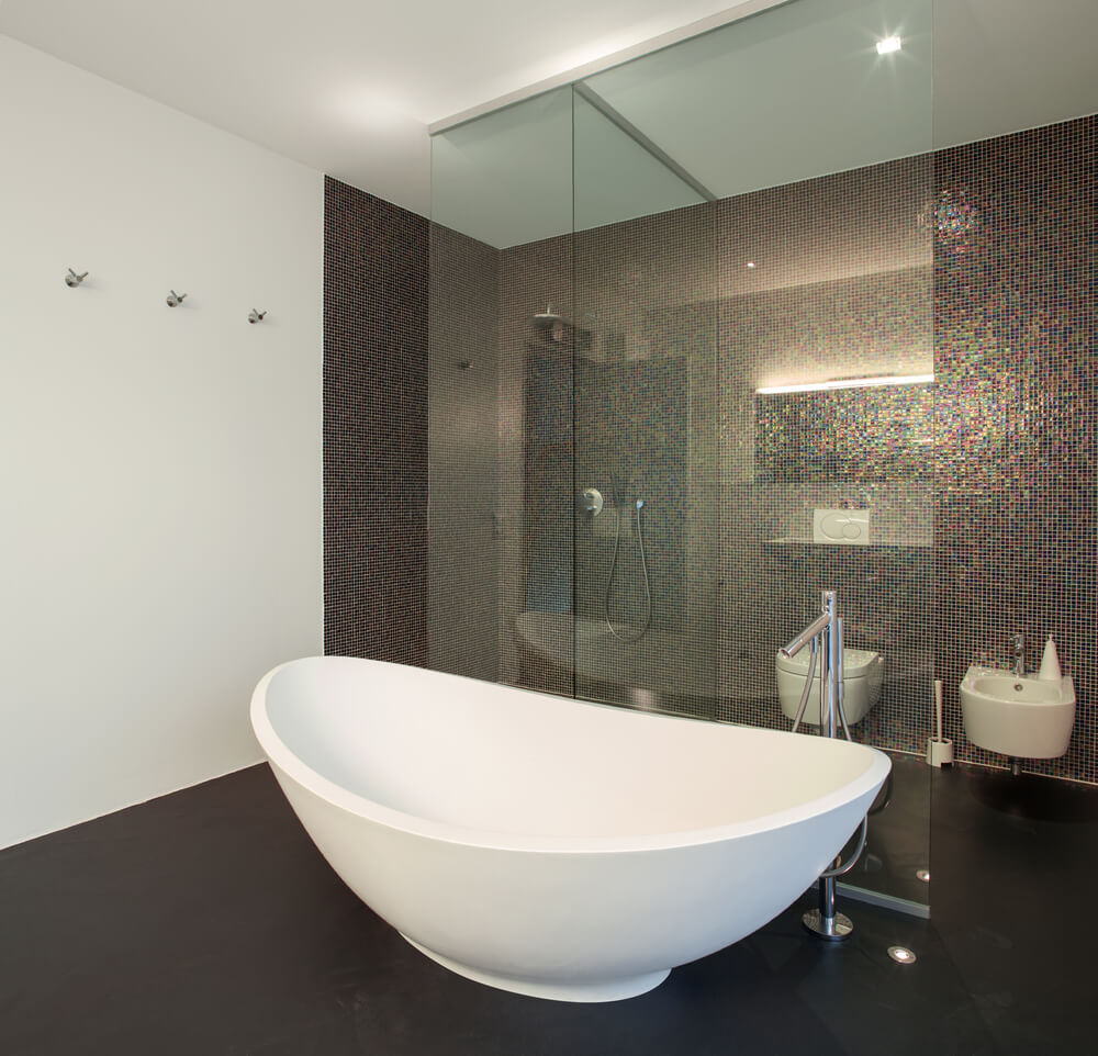 bathtub kamar mandi,  desain kamar mandi bathtub minimalis