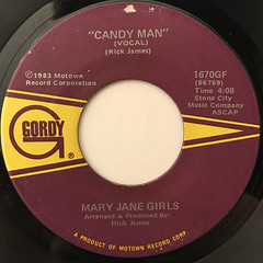MARY JANE GIRLS:CANDY MAN(LABEL SIDE-A)