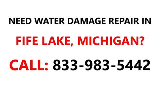 Water damage repair Fife Lake, Michigan MI #833-983-5442