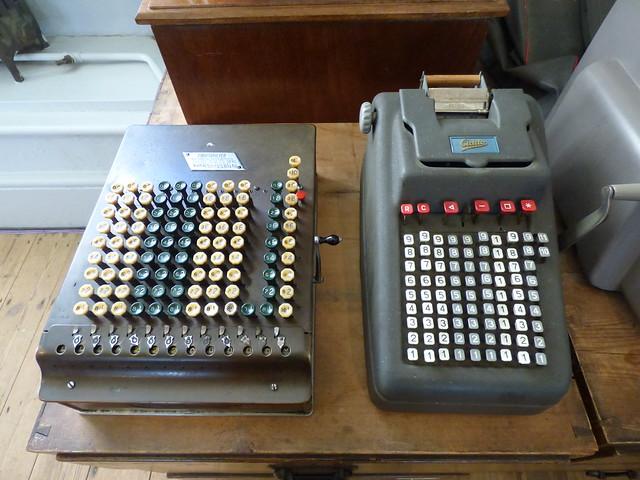 Comptometer, Addo Calculators at the Estate office, Knole Park