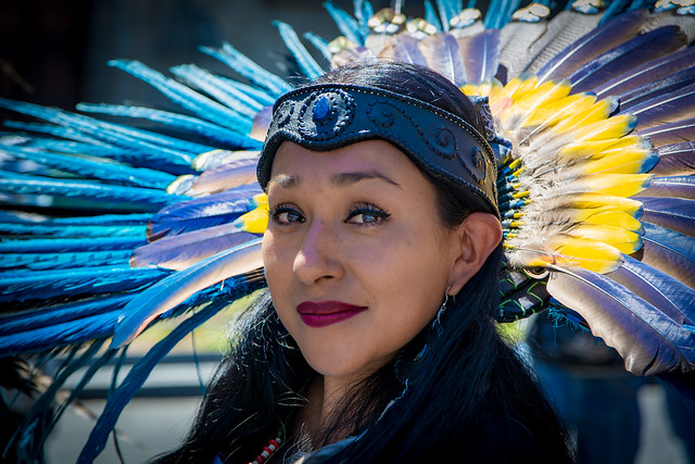 Aztec dancer. Mexico City