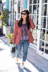 rust satin blazer, floral cami, tomboy jeans, white mules, straw bag-3.jpg