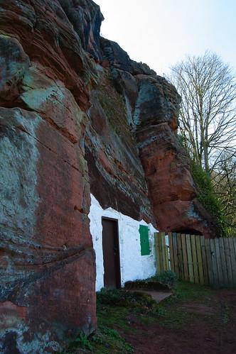 Rock house in sandstone cliff, Kinver