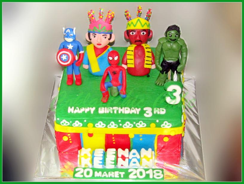 Cake Ondel2 superhero KEENAN 20 cm