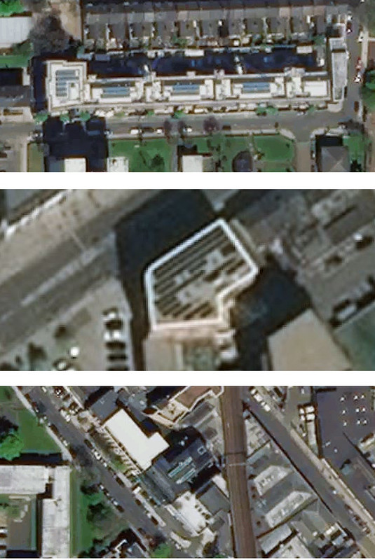 Solar panel aerial image examples
