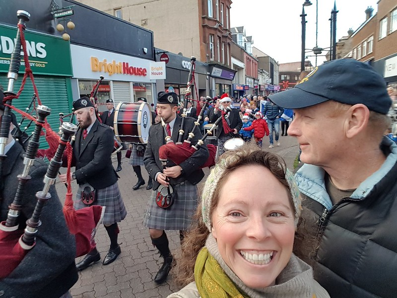 Surprise parade in Saltcoats