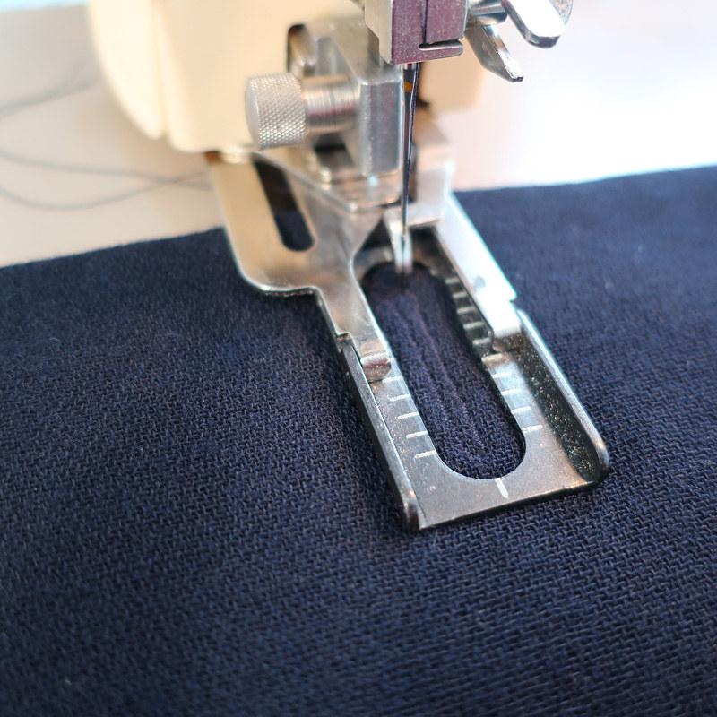 Navy blazer buttonhole