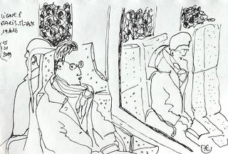 Ligne P. Paris Meaux. Janvier 2019