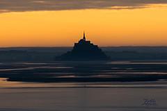 levée du soleil_ vue sur le Mont saint Michel depuis les falaises de champeaux _ carolles _ cabane Vauban_2 - Photo of Champeaux