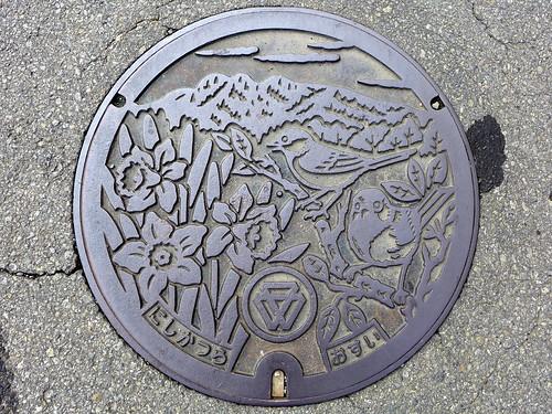 Nishikatsura Yamanashi, manhole cover (山梨県西桂町のマンホール)