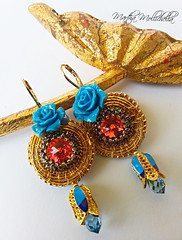 Goldwork jewellery by Martha Mollichella