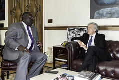Secretary General Meets with Foreign Minister of Haiti