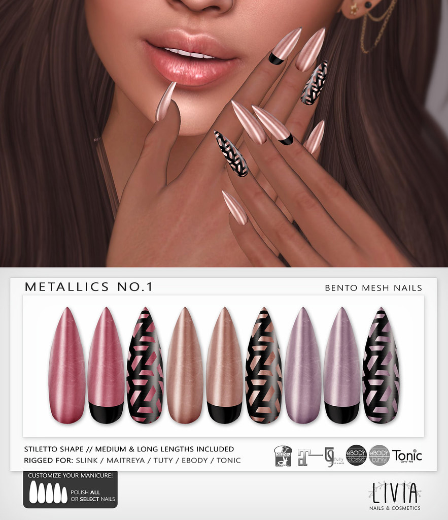 LIVIA // Metallics No.1 Bento Mesh Nails [Group Gift]