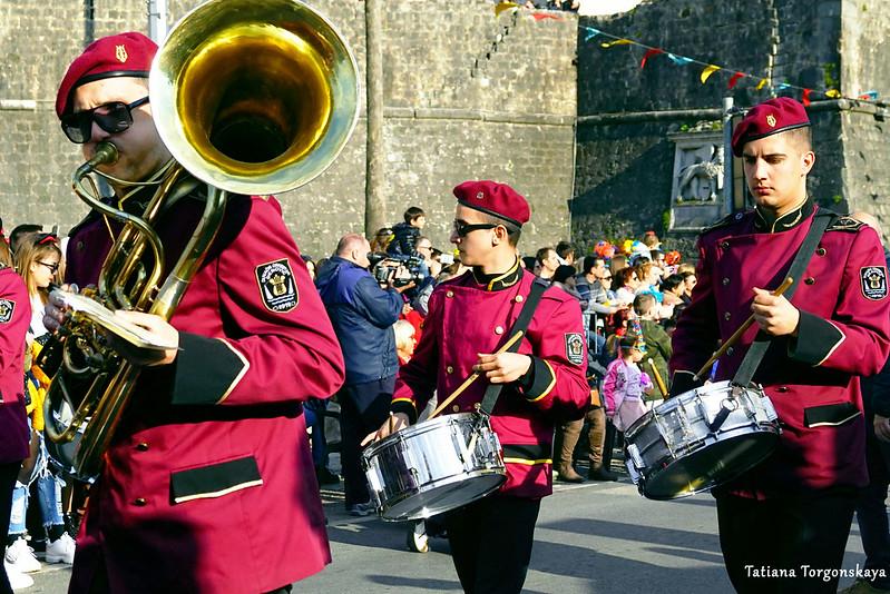 Оркестр из Дженовичей на Зимнем карнавале
