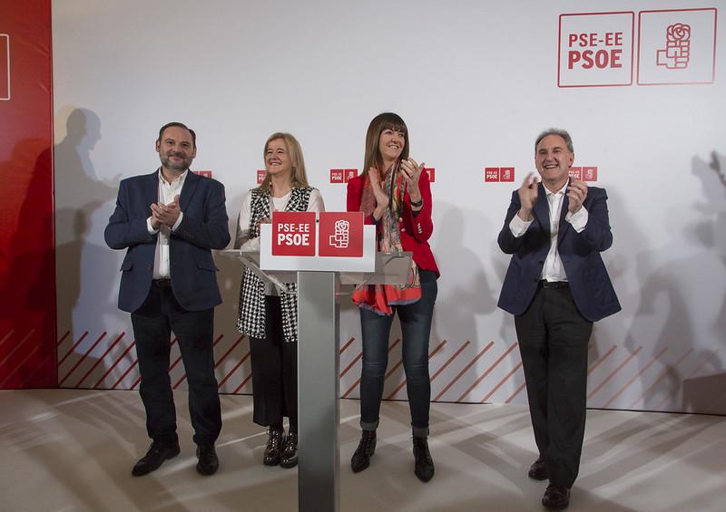 José Luis Ábalos, Idoia Mendia, Teresa Laespada y Alfonso Gil
