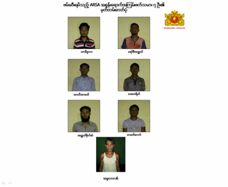 7 orang teroris Rohingya ditangkap oleh warga Muslim Myanmar.
