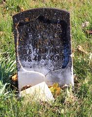 Gravestone of Samuel Carroll (Civil War, Union Army), Bethel Cemetery - Northwest Orange County, Indiana