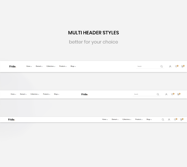 shopify theme parallax - multiple header styles