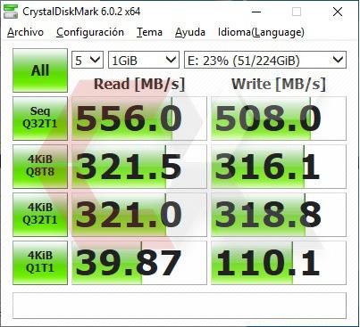 HyperX Fury RGB 240 GB CrystalDiskMark Overcluster