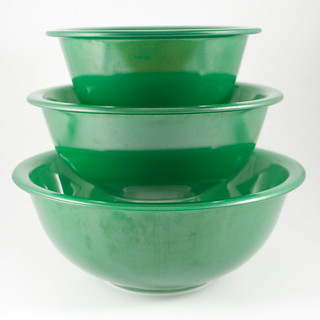 1980's Pyrex Green Bowls | by owntwohands