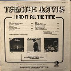 TYRONE DAVIS:I HAD IT ALL THE TIME(JACKET B)