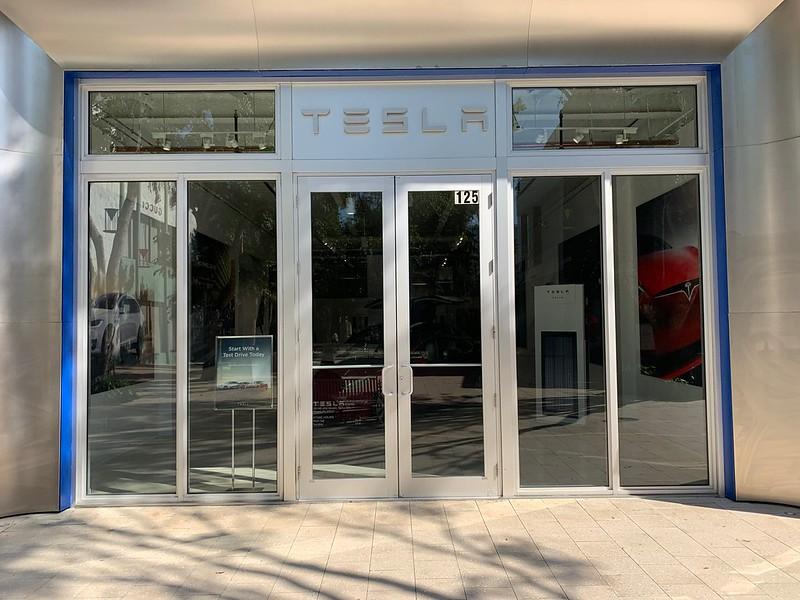 Tesla Miami Design District