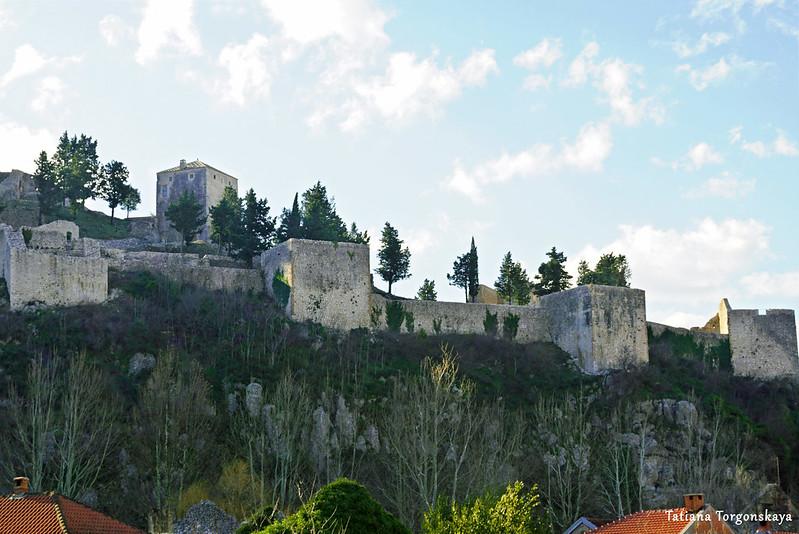 Вид на крепость в Стоце