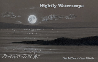 How to Draw a Night Waterscape With the Moon | by fineart-tips