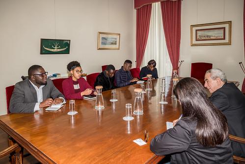 19.02. Secretário Executivo recebeu Núcleo de Estudantes Africanos do ISCSP-ULisboa