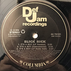 SLICK RICK:IT'S A BOY(LABEL SIDE-A)