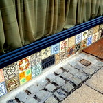 Wonderful vintage ceramic tiles at the Plau Bar, Preston