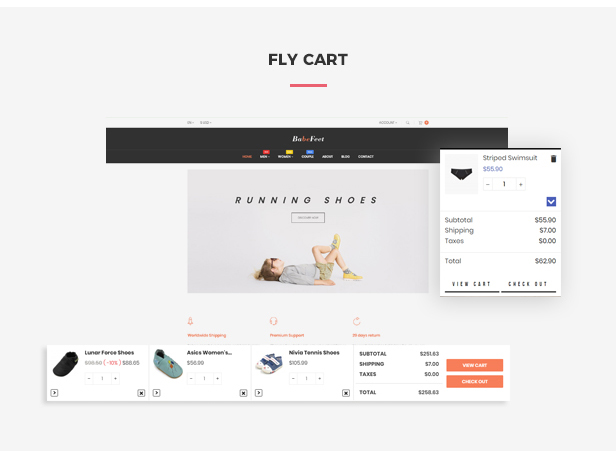Ap Babe Feet Kids Store Prestashop Theme - Flying ajax cart