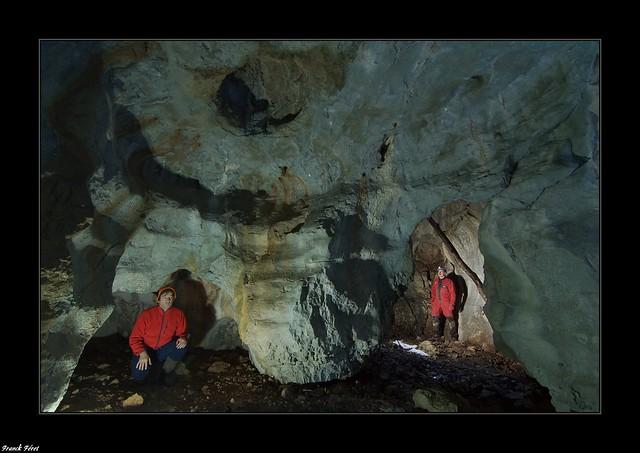 Daniel et moi dans la Grotte de la Forêt de Molain - Jura
