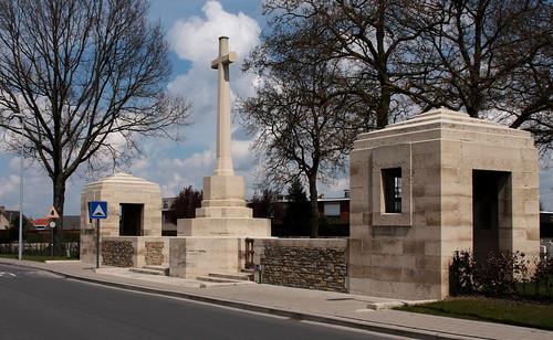Cross of Sacrifice Poperinghe New Military Cemetery Belgium