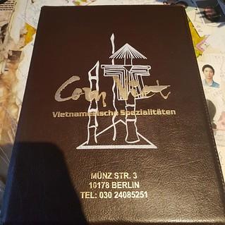 Speisekarte bei Com Viet in Berlin am Alexanderplatz