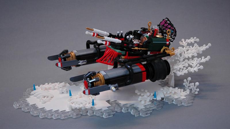 MOC natalizie - Santa's Dieselpunk sled