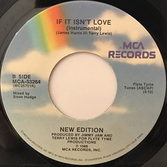 NEW EDITION:IF IT ISN'T LOVE(LABEL SIDE-B)