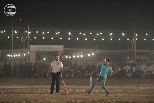 Rev Ramit Ji playing Cricket
