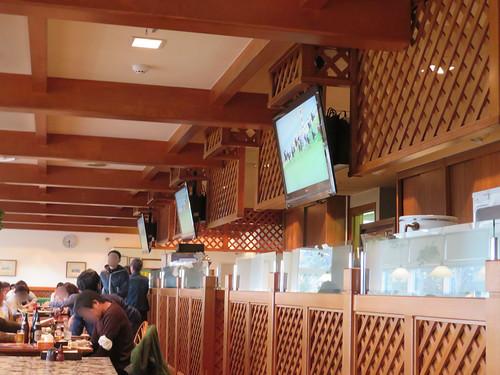 中山競馬場のテレビ画面